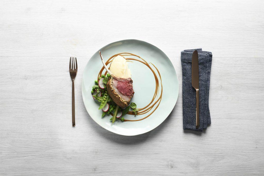 Macadamia encrusted lamb